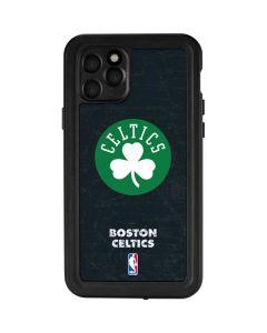 Boston Celtics Black Secondary Logo iPhone 11 Pro Waterproof Case