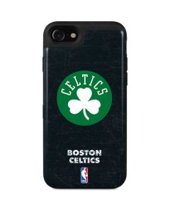 Boston Celtics Black Secondary Logo iPhone SE Wallet Case