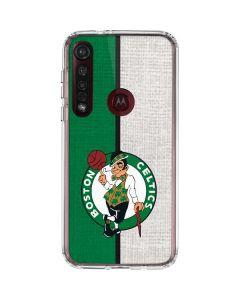 Boston Celtics Canvas Moto G8 Plus Clear Case