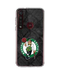 Boston Celtics Dark Rust Moto G8 Plus Clear Case