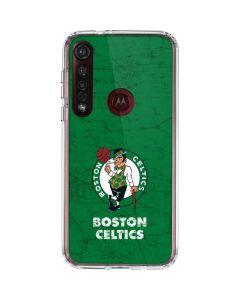Boston Celtics Green Primary Logo Moto G8 Plus Clear Case
