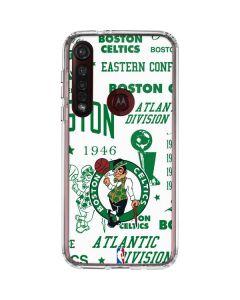 Boston Celtics Historic Blast Moto G8 Plus Clear Case