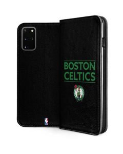Boston Celtics Standard - Black Galaxy S20 Plus Folio Case