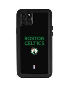 Boston Celtics Standard - Black iPhone 11 Pro Max Waterproof Case