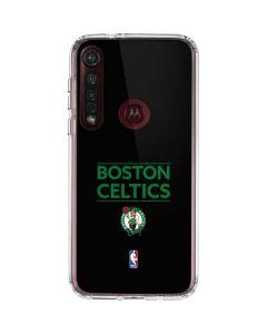 Boston Celtics Standard - Black Moto G8 Plus Clear Case