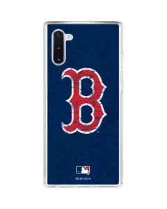 Boston Red Sox - Solid Distressed Galaxy Note 10 Clear Case