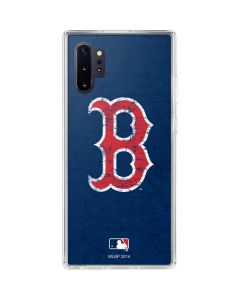 Boston Red Sox - Solid Distressed Galaxy Note 10 Plus Clear Case