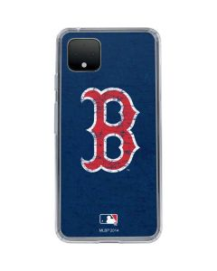 Boston Red Sox - Solid Distressed Google Pixel 4 XL Clear Case