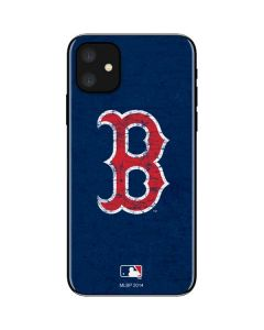 Boston Red Sox - Solid Distressed iPhone 11 Skin