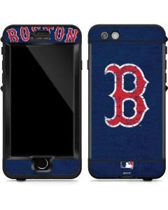 Boston Red Sox - Solid Distressed LifeProof Nuud iPhone Skin