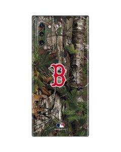 Boston Red Sox Realtree Xtra Green Camo Galaxy Note 10 Skin