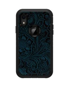 Botanical Flourish Blue Otterbox Defender iPhone Skin