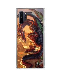Bravery Misplaced Dragon and Knight Galaxy Note 10 Plus Clear Case