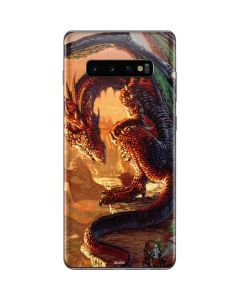 Bravery Misplaced Dragon and Knight Galaxy S10 Plus Skin