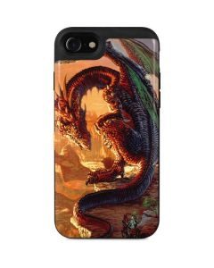 Bravery Misplaced Dragon and Knight iPhone SE Wallet Case