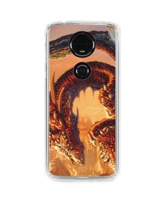 Bravery Misplaced Dragon and Knight Moto E5 Plus Clear Case