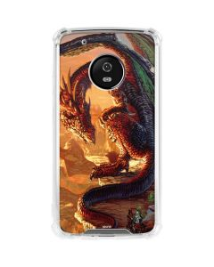 Bravery Misplaced Dragon and Knight Moto G5 Plus Clear Case