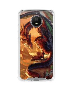 Bravery Misplaced Dragon and Knight Moto G5S Plus Clear Case