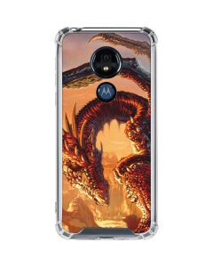 Bravery Misplaced Dragon and Knight Moto G7 Power Clear Case