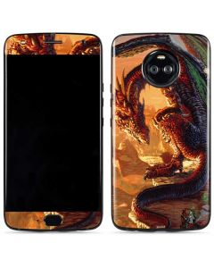 Bravery Misplaced Dragon and Knight Moto X4 Skin