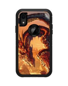 Bravery Misplaced Dragon and Knight Otterbox Defender iPhone Skin