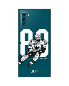 Brent Burns #88 Action Sketch Galaxy Note 10 Skin