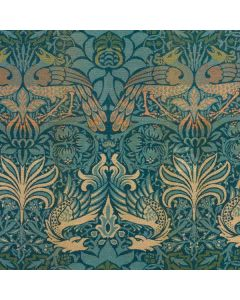 Peacock and Dragon Textile Design by William Morris Galaxy S10 Skin