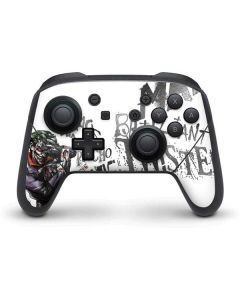 Brilliantly Twisted - The Joker Nintendo Switch Pro Controller Skin