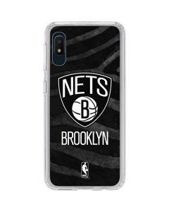 Brooklyn Nets Black Animal Print Galaxy A10e Clear Case