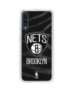 Brooklyn Nets Black Animal Print Galaxy A50 Clear Case
