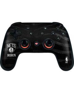 Brooklyn Nets Black Animal Print Google Stadia Controller Skin