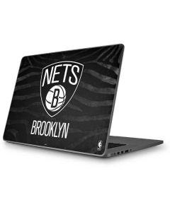 Brooklyn Nets Black Animal Print Apple MacBook Pro 17-inch Skin