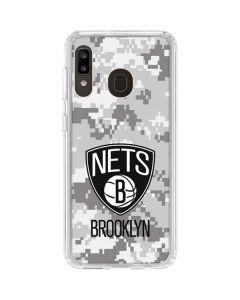 Brooklyn Nets Digi Camo Galaxy A20 Clear Case