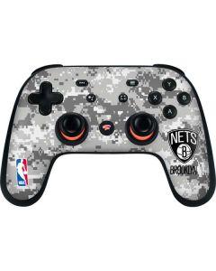 Brooklyn Nets Digi Camo Google Stadia Controller Skin
