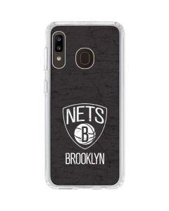 Brooklyn Nets Distressed Galaxy A20 Clear Case