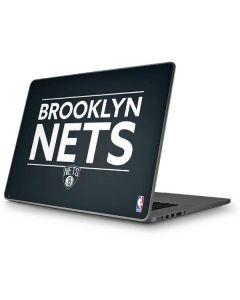 Brooklyn Nets Standard - Black Apple MacBook Pro 17-inch Skin