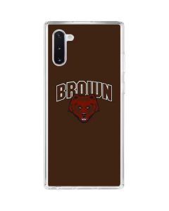 Brown University Bears Galaxy Note 10 Clear Case