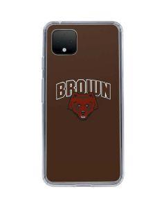 Brown University Bears Google Pixel 4 Clear Case