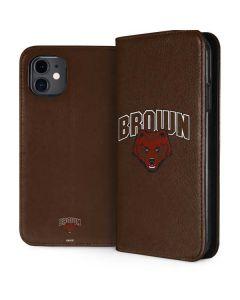 Brown University Bears iPhone 11 Folio Case
