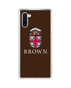 Brown University Galaxy Note 10 Clear Case