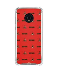 Cleveland Browns Blitz Series Moto G6 Clear Case