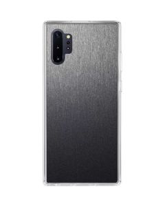 Brushed Steel Texture Galaxy Note 10 Plus Clear Case
