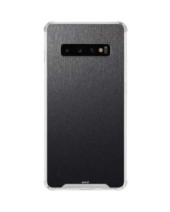 Brushed Steel Texture Galaxy S10 Clear Case