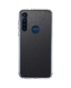 Brushed Steel Texture Moto G8 Power Clear Case