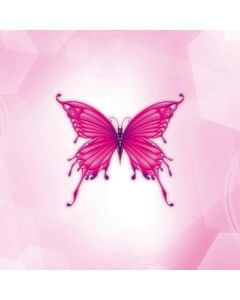 Pink Butterfly Generic Laptop Skin