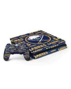 Buffalo Sabres Blast PS4 Slim Bundle Skin