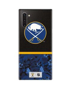 Buffalo Sabres Retro Tropical Print Galaxy Note 10 Skin