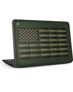 Bullet American Flag HP Chromebook Skin