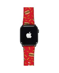 Burgers and Fries Apple Watch Band 42-44mm