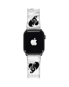 BW Musical Notes Apple Watch Band 42-44mm